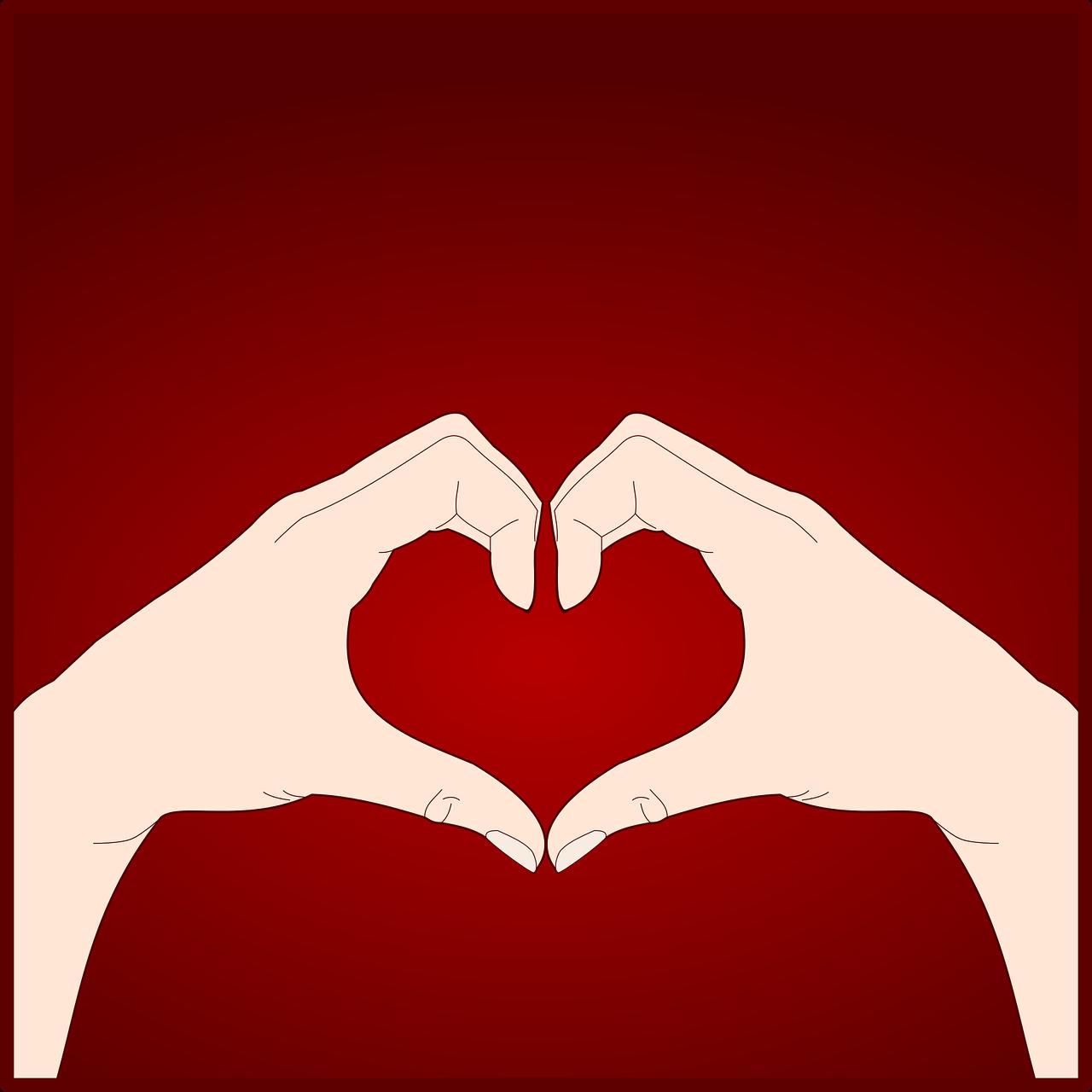 Картинки сердца руками и пальцами простота организации