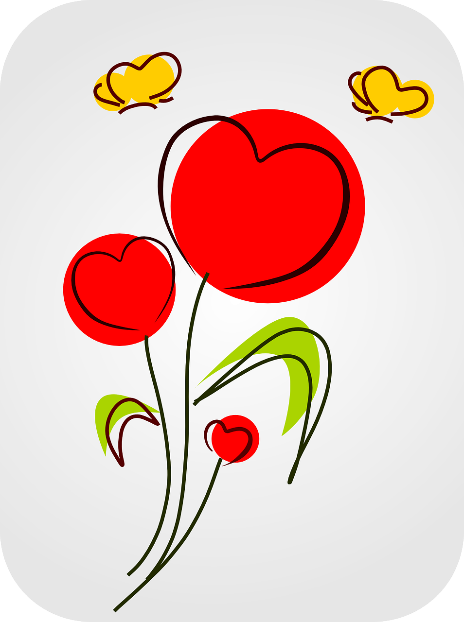 heart love flowers free photo