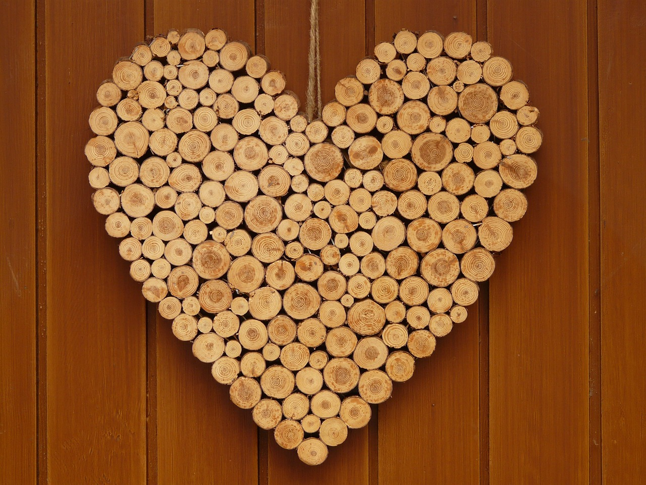 heart love wooden heart free photo