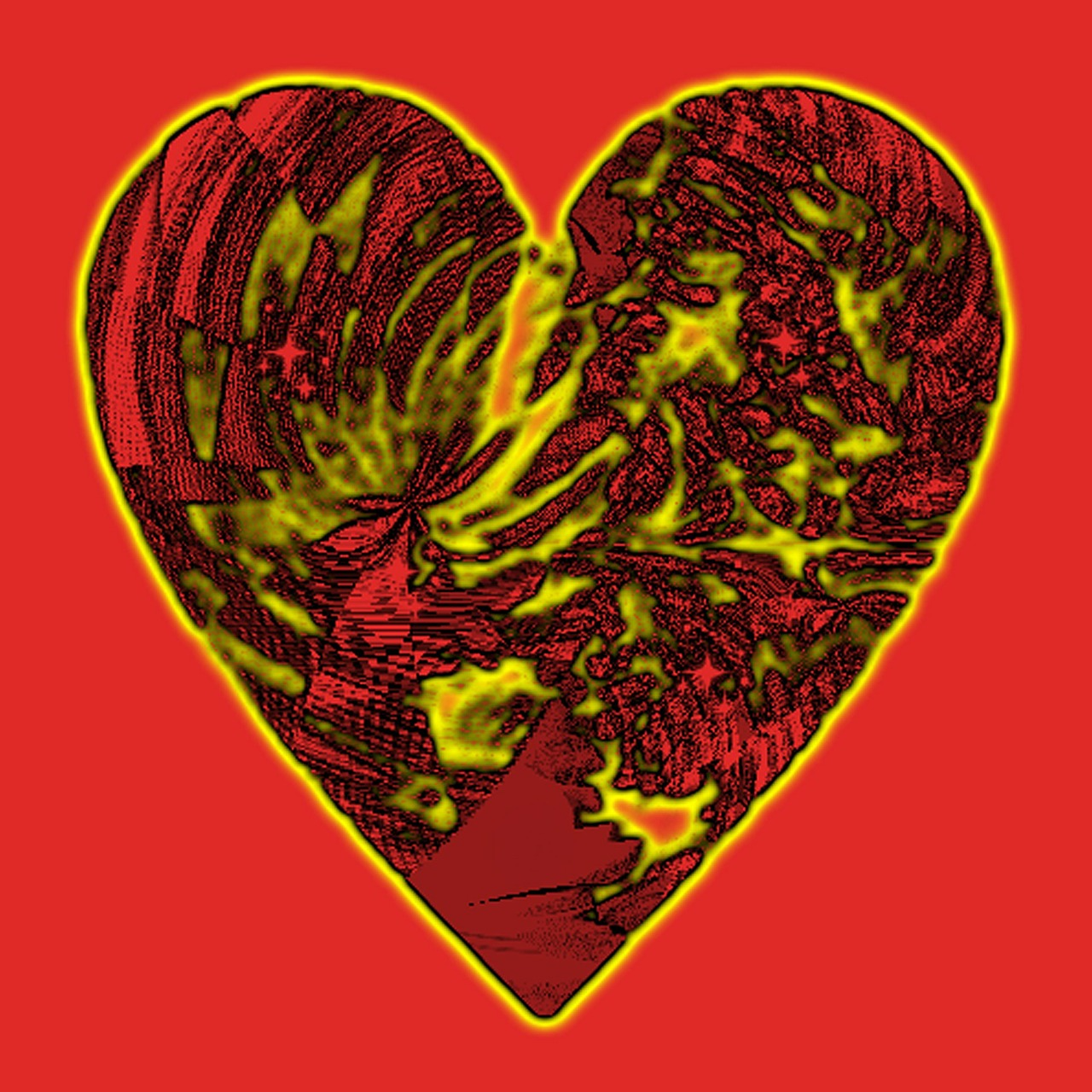 heart red yellow free photo