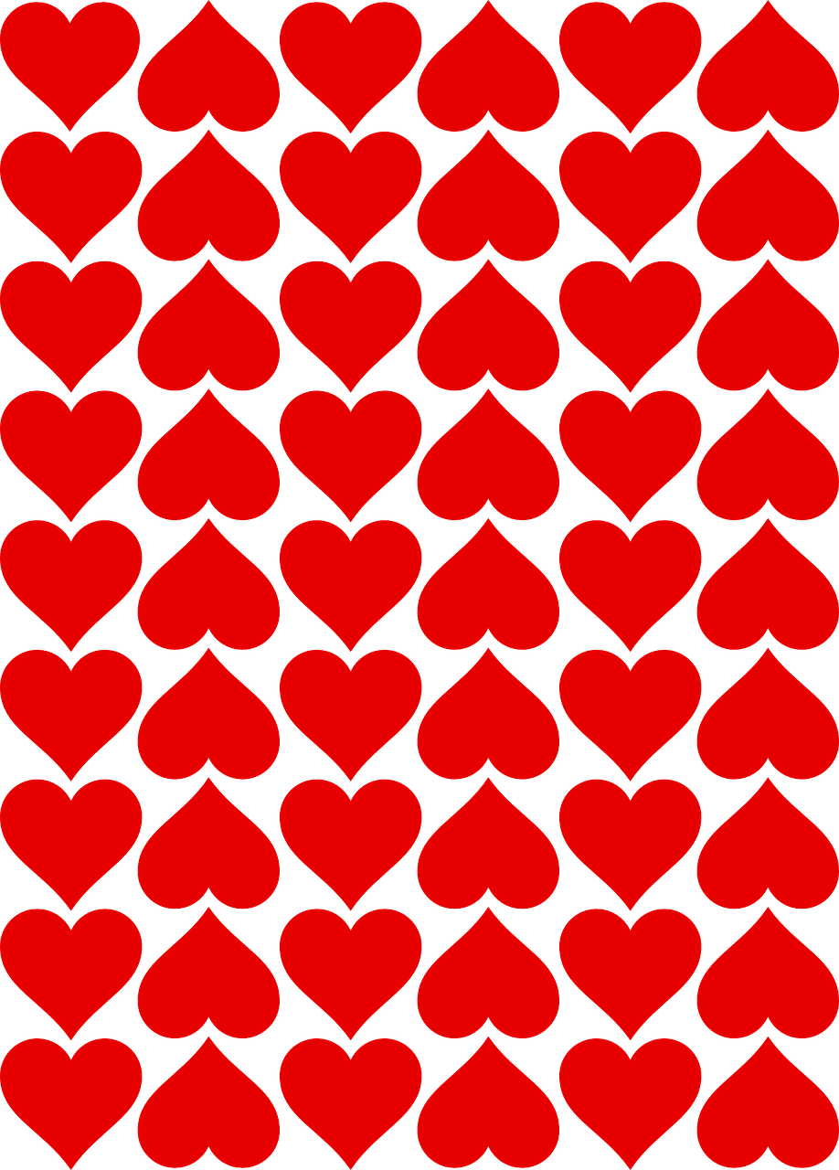 hearts tiles valentines free photo