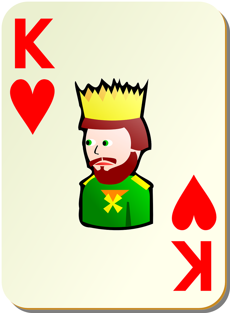 hearts king poker free photo