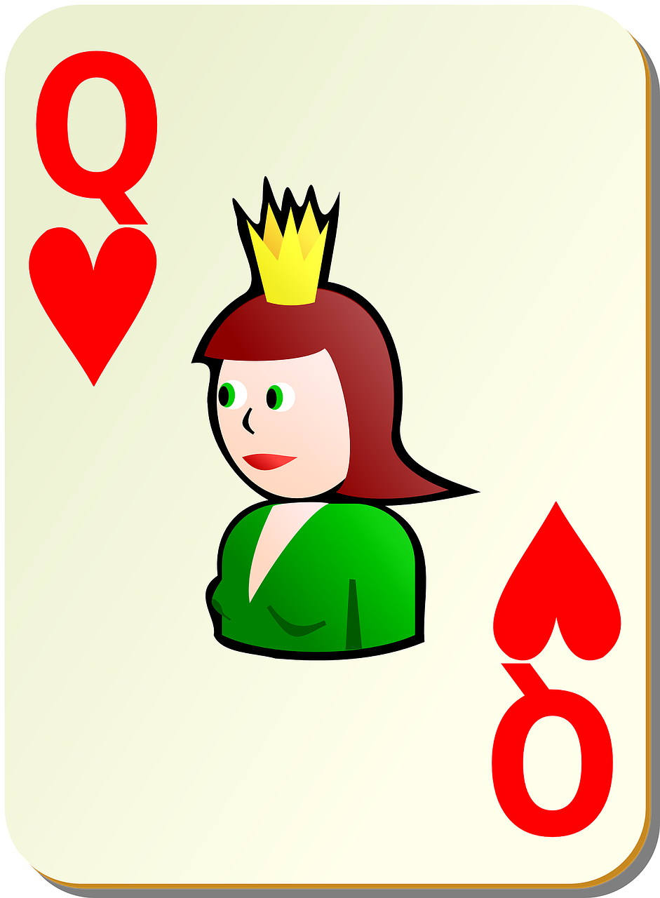 hearts queen card free photo