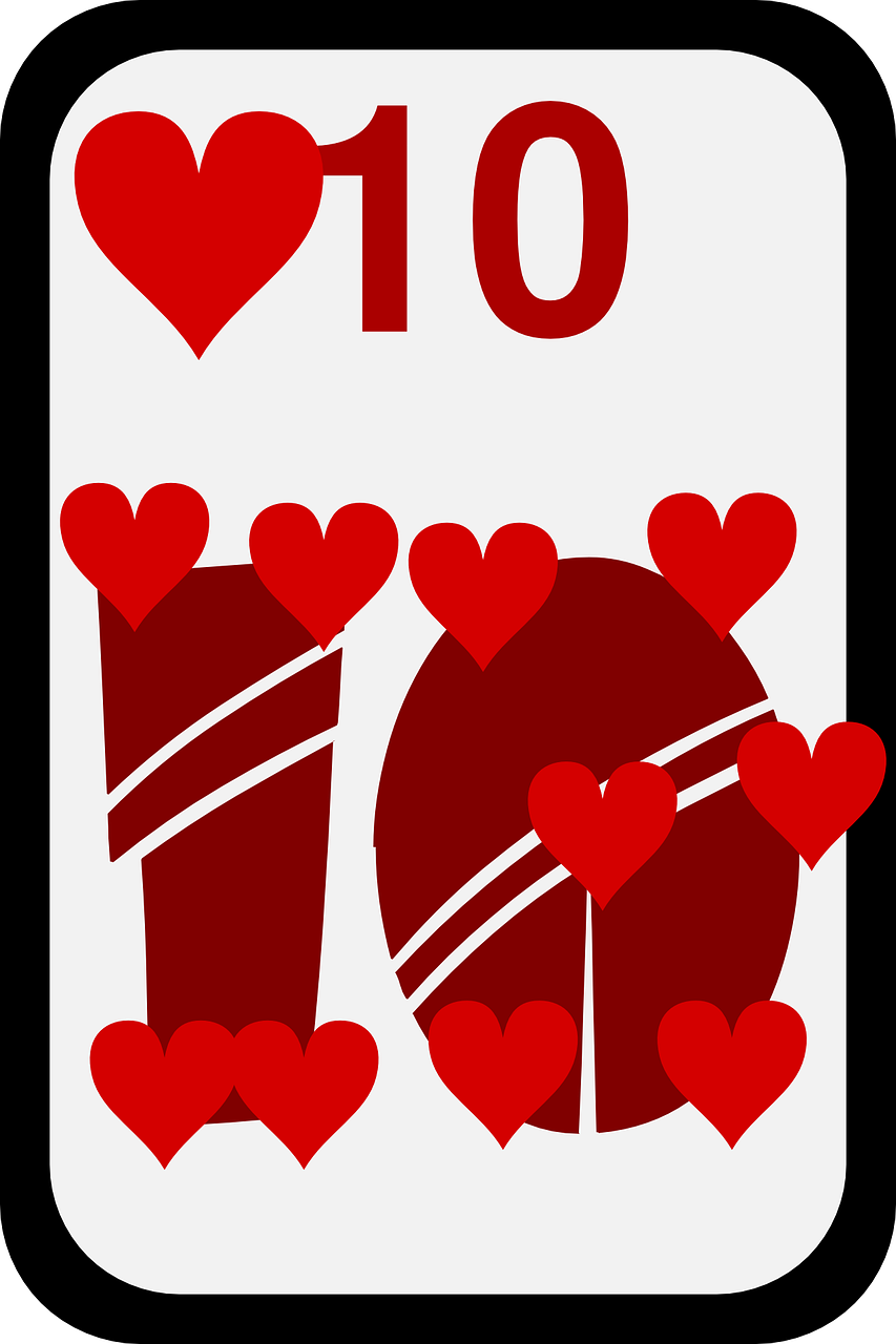 hearts game cards free photo