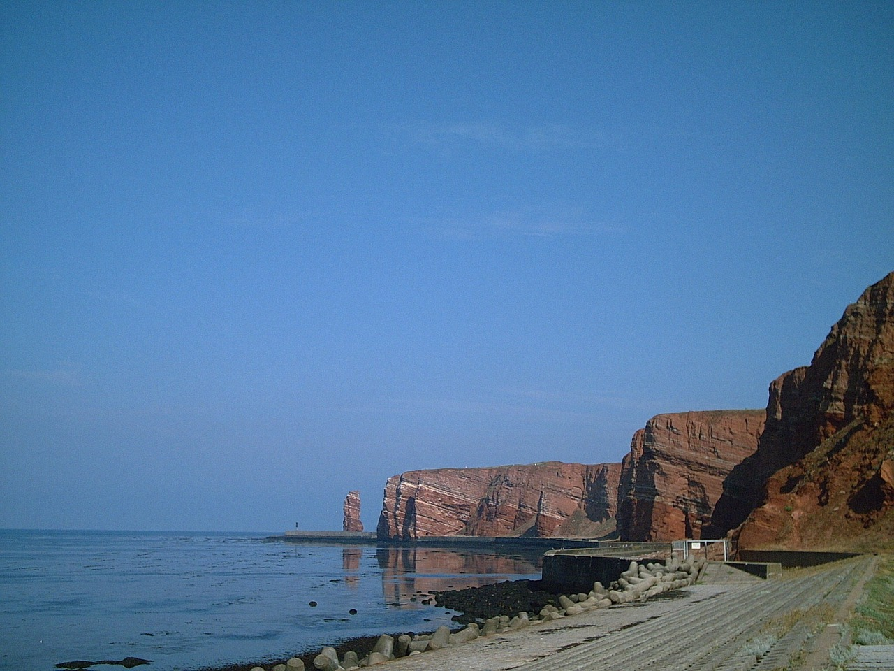 helgoland island rock free photo