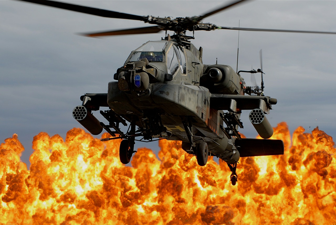 Helicopter,fire,explosion,war,apache helo - free image from ...