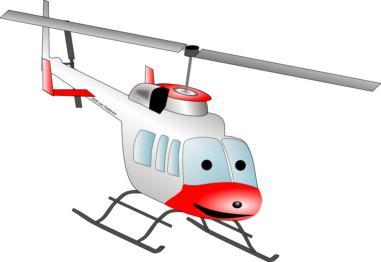 helicopter chopper cartoon free photo