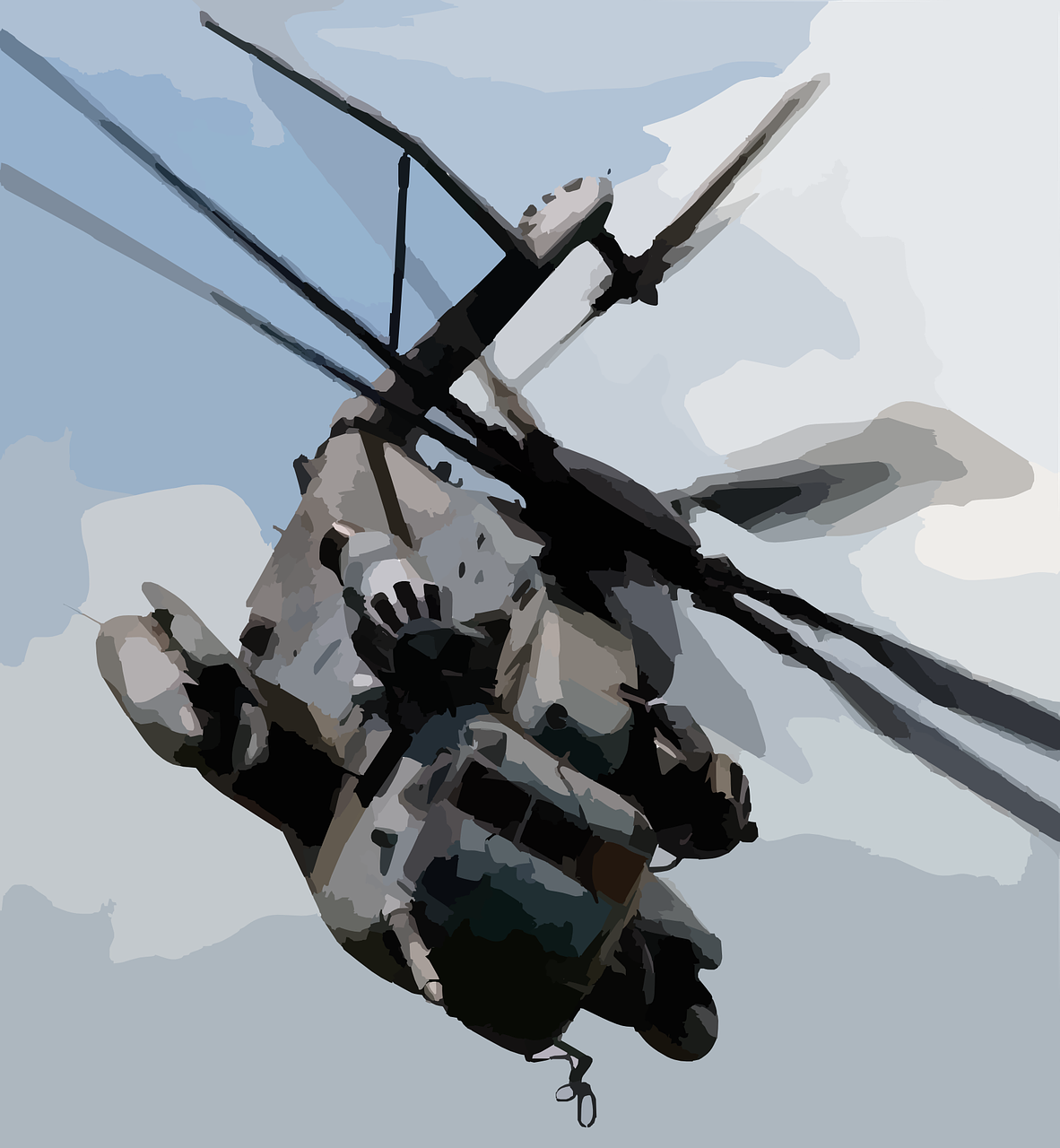 helicopter chopper military free photo