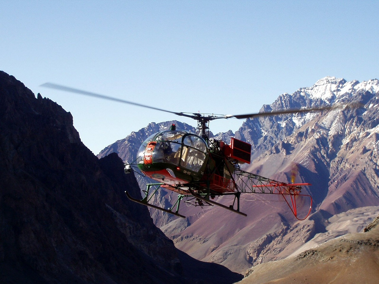 helicopter mountain rescue aconcagua free picture