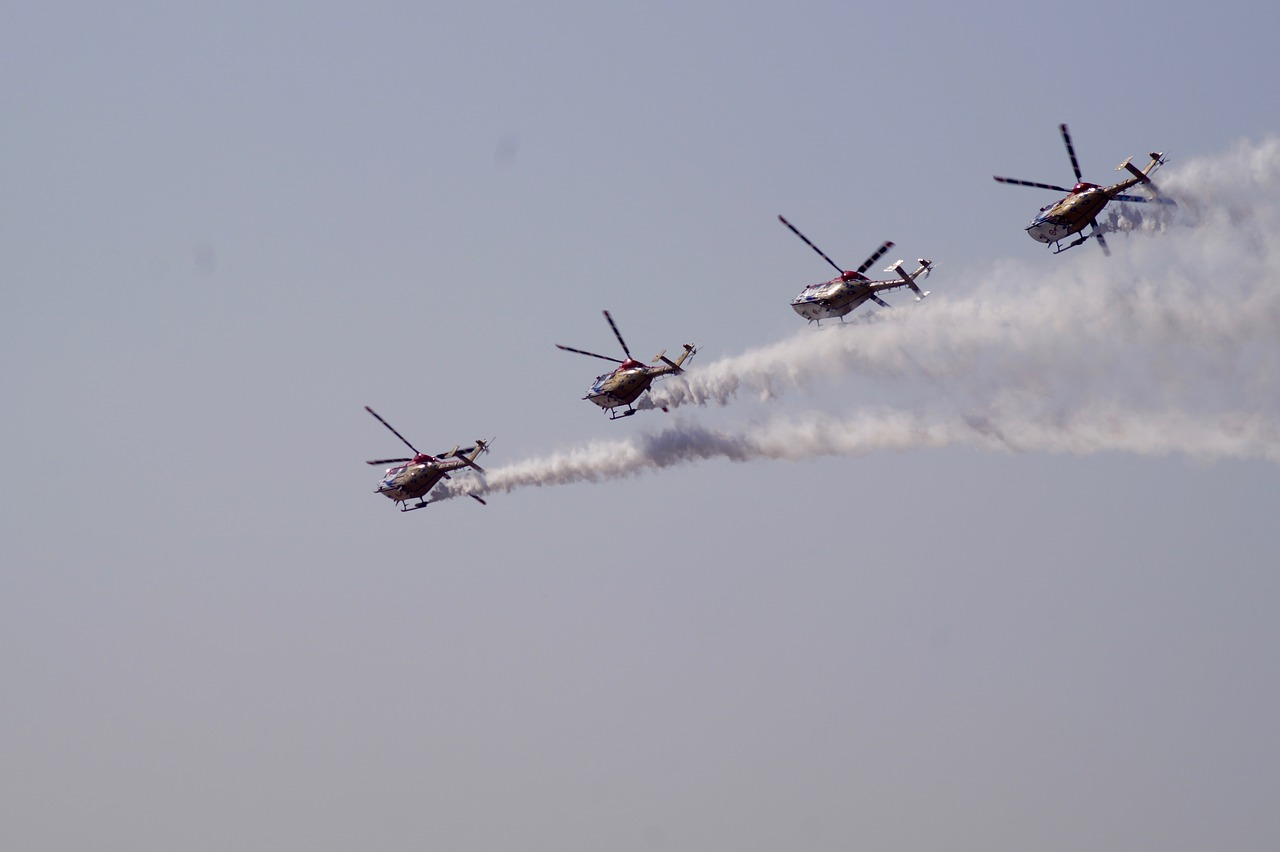 helicopters aerobics planes free photo