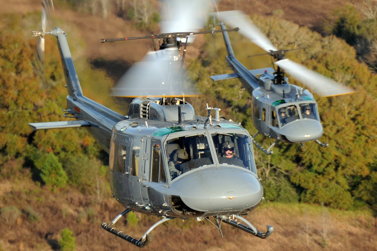 helicopters aircraft sky free photo