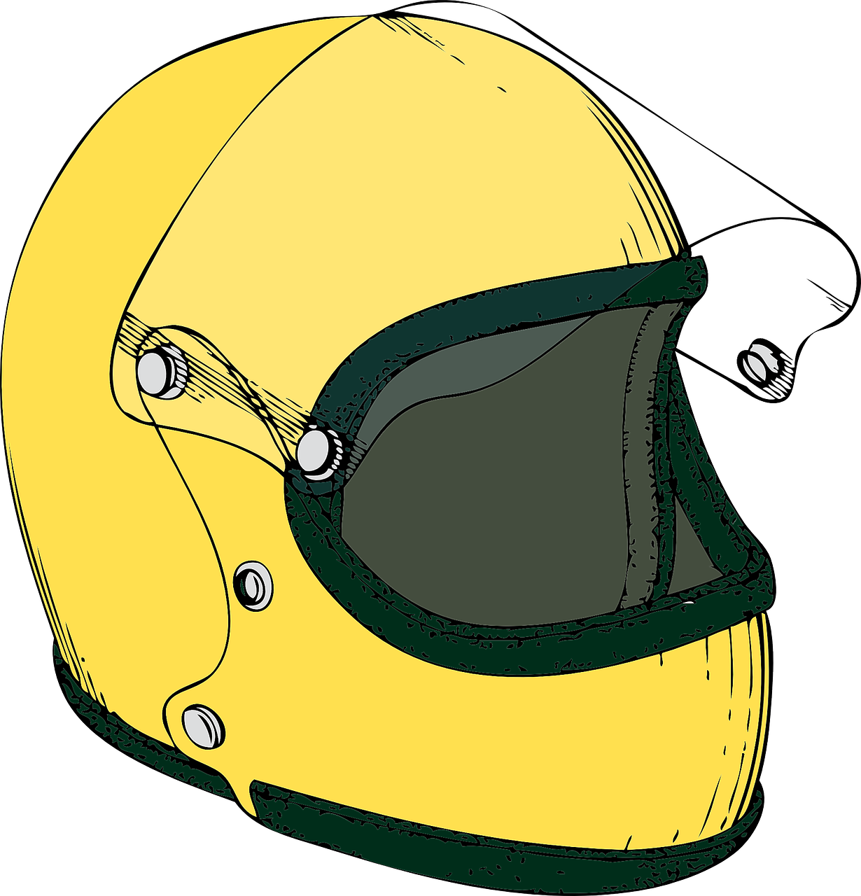helmet,motorcycle,yellow,bike,crash,rider,quality,protective,headgear,survival,safety,defense,cover,shield,guard,secure,head injury,wreck,saving lives,full face,plastic,carbon fiber,free vector graphics,free pictures, free photos, free images, royalty free, free illustrations, public domain