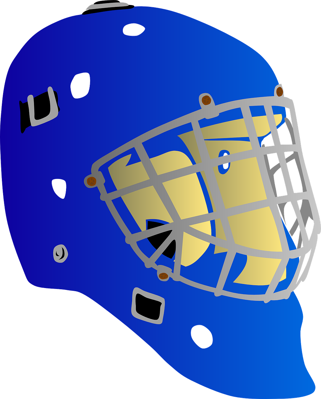 helmet hockey goalie free photo