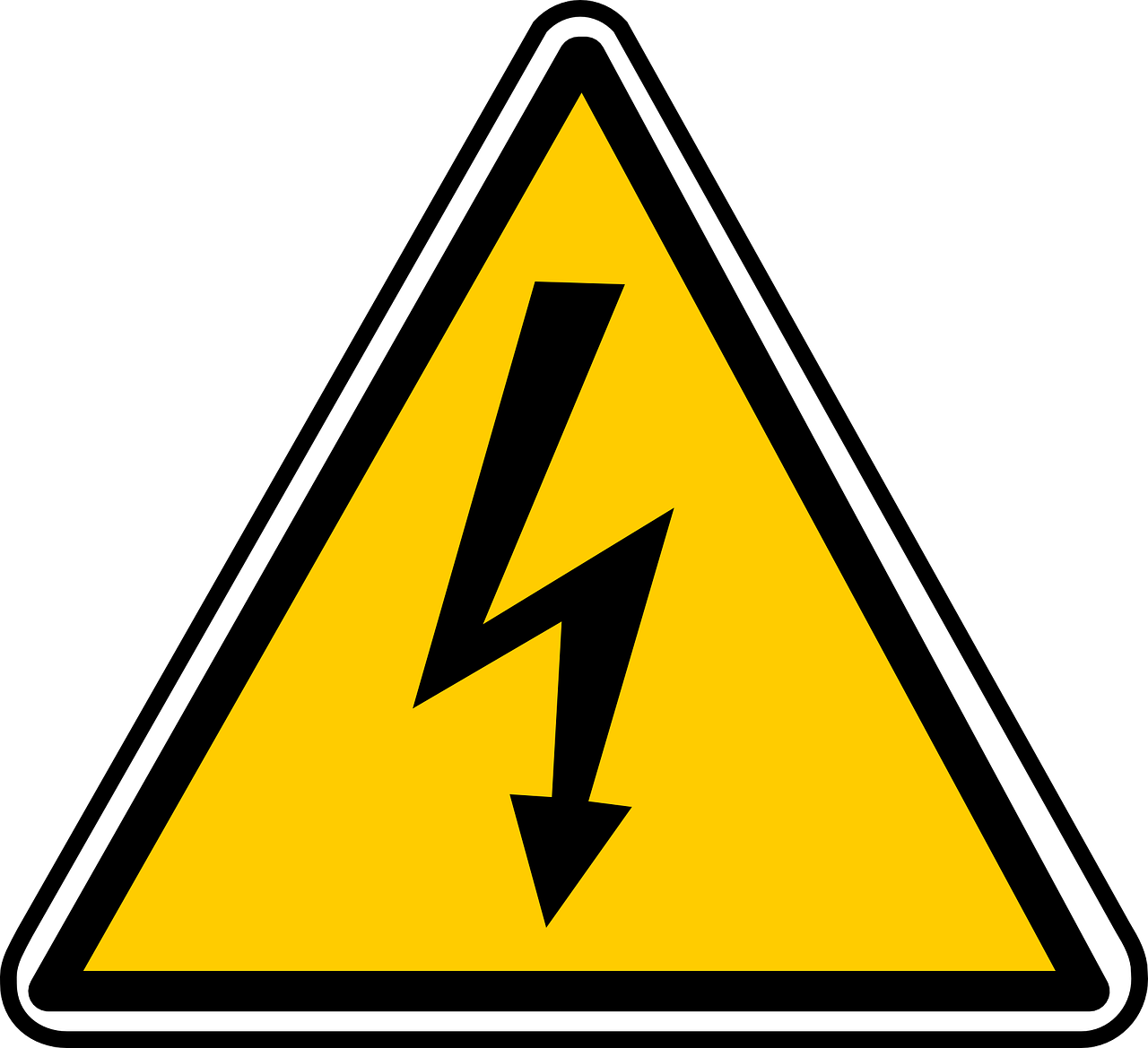 high voltage sign free photo