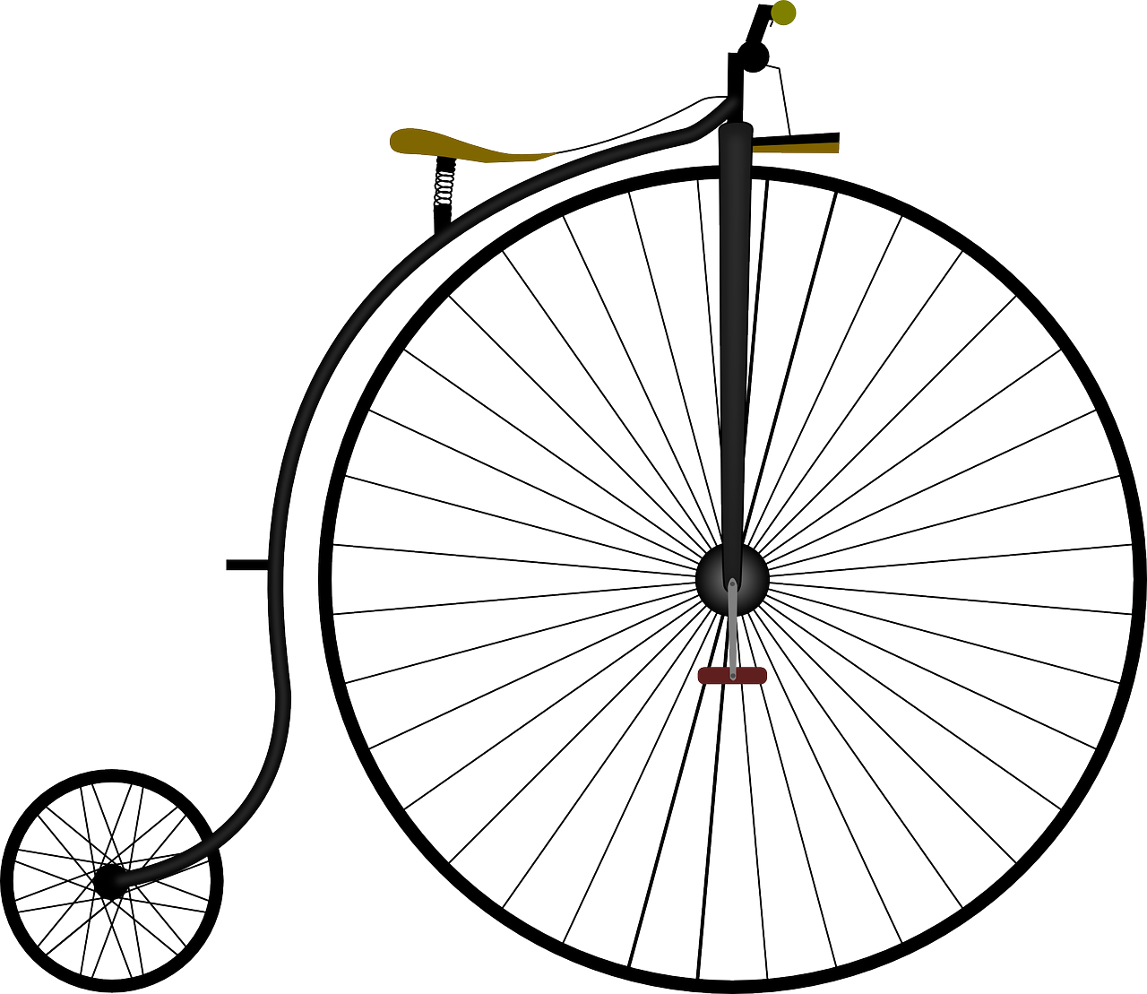 high-wheel bicycle,bicycle,high wheeler,bike,penny-farthing,transportation,free vector graphics,free pictures, free photos, free images, royalty free, free illustrations, public domain