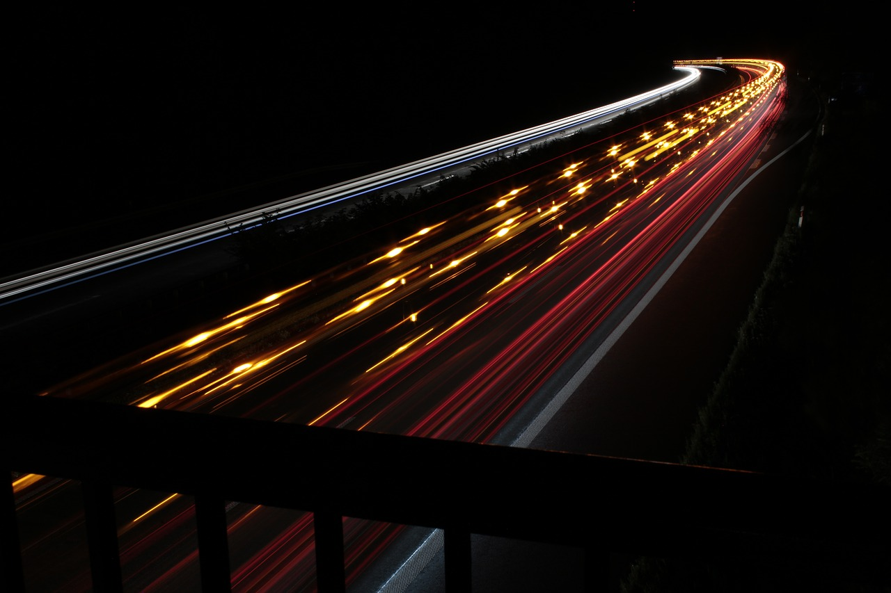 highway a44 night free photo