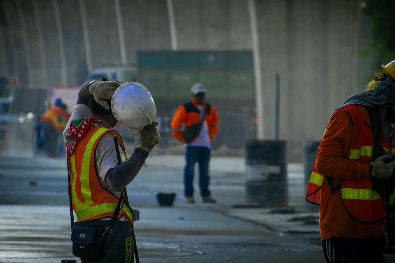 highway road construction  worker  construction free photo