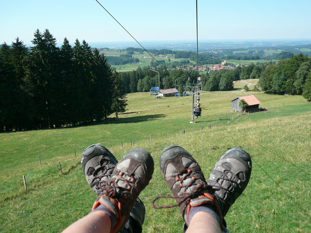 hochries,lift,feet,view,chairlift,mountaineering shoes,benefit from,alpine,mountain meadows,free pictures, free photos, free images, royalty free, free illustrations, public domain