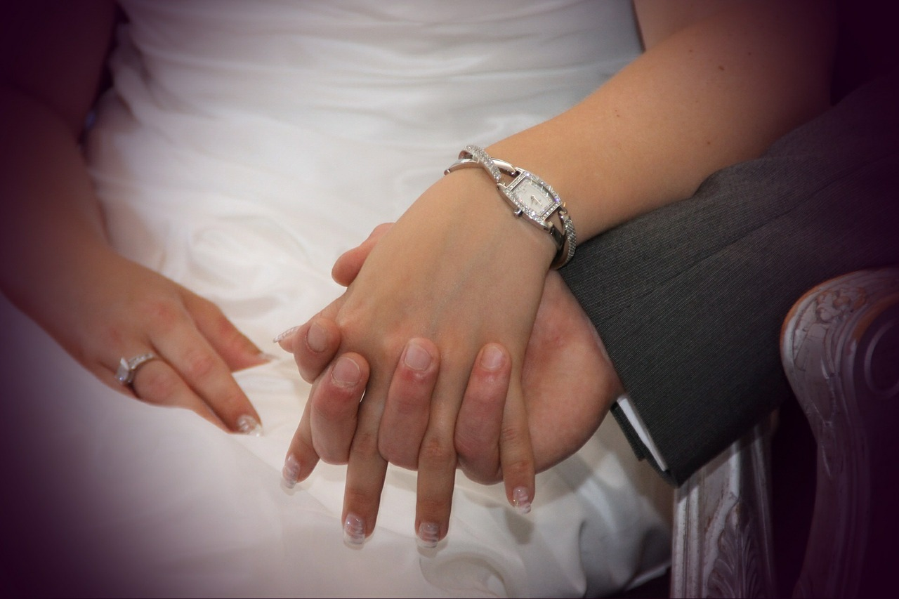 holding hands wedding ring free photo