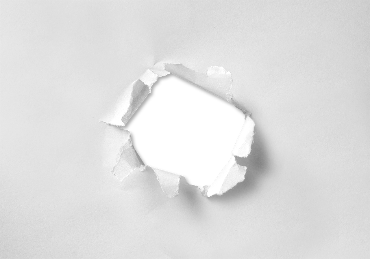 hole torn paper free photo