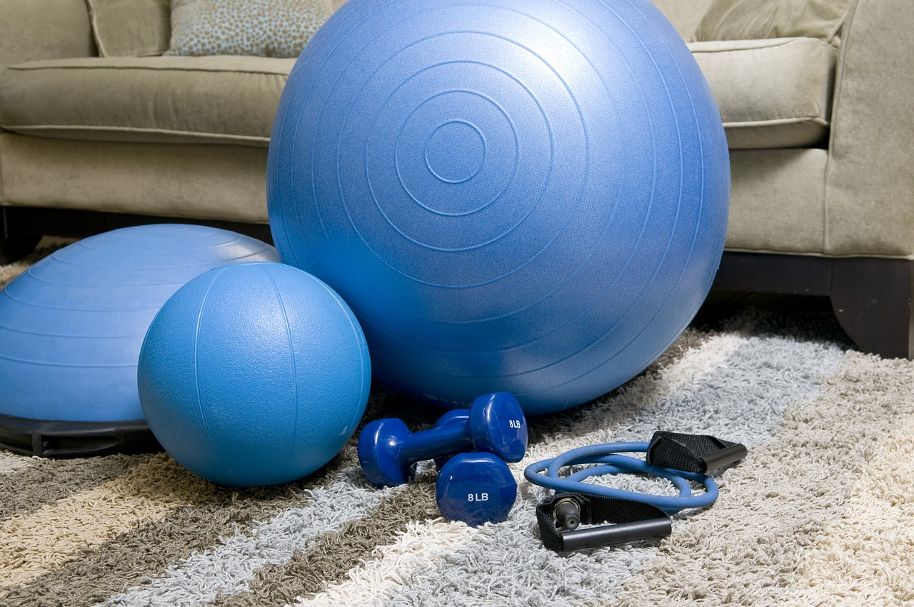 home fitness equipment blue fitness equipment portable fitness equipment free photo