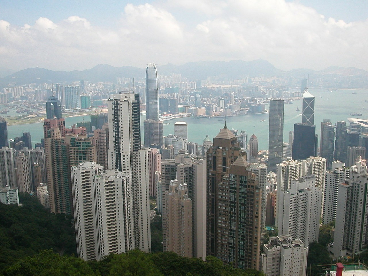 hong kong city big city free photo