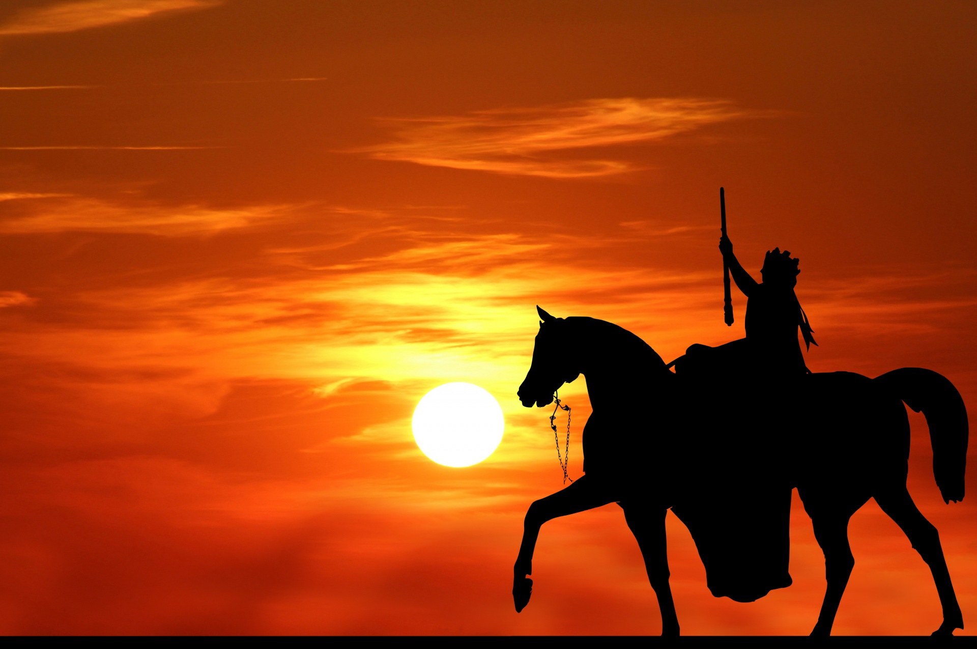 Horse Silhouette Sunset Woman Queen Free Image From Needpix Com