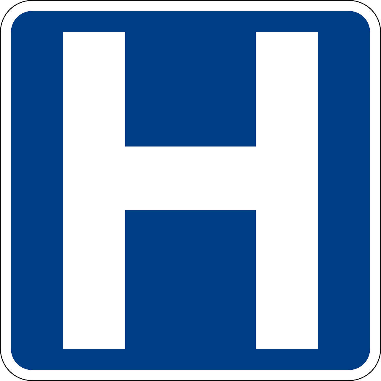 hospital signs road free photo