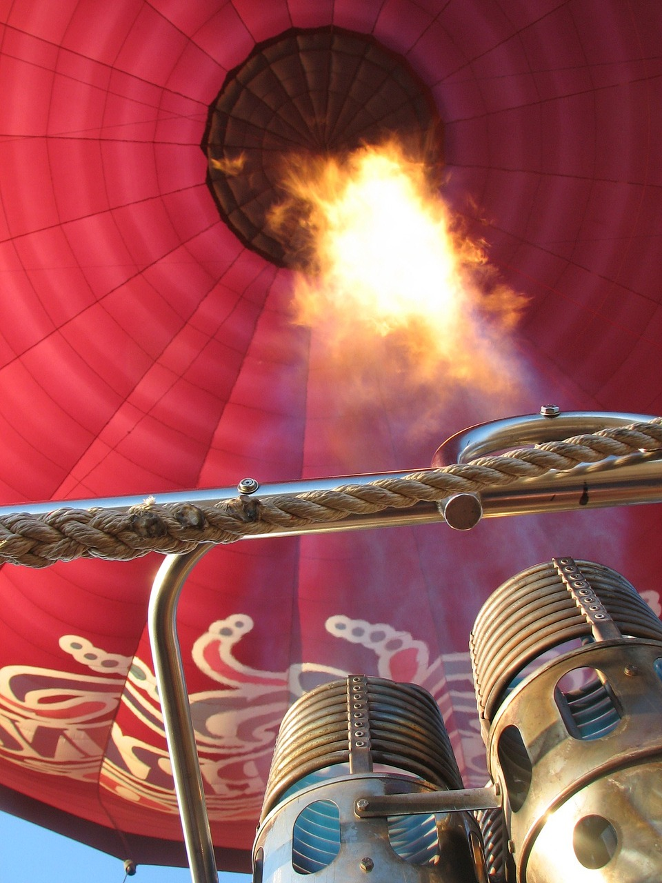 hot air balloon burner balloon free photo