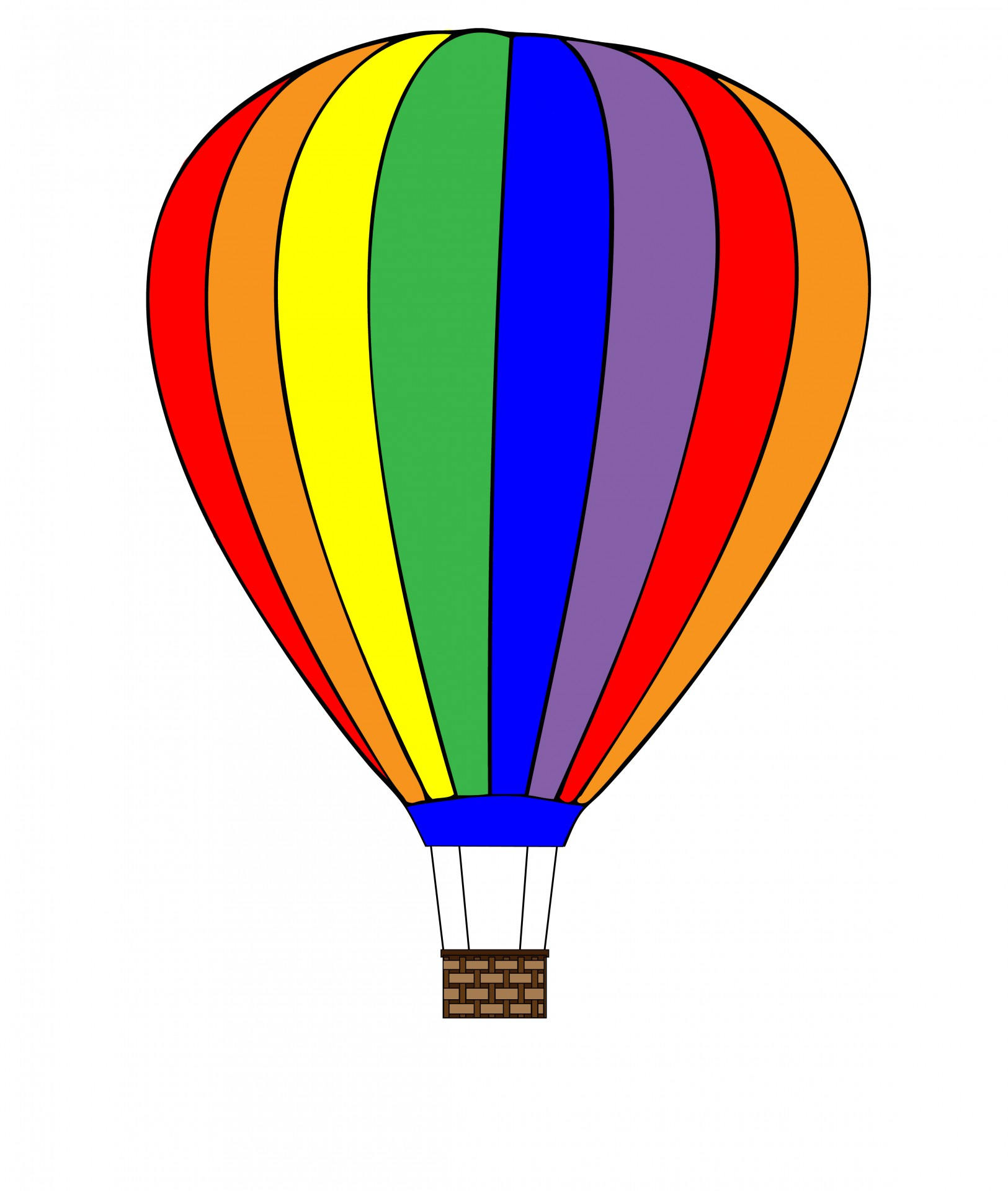 Hot Nbsp Air Nbsp Balloon Balloon Colorful Rainbow Clipart Free