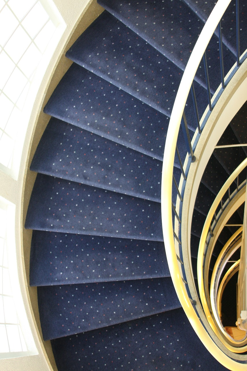 hotel stairs spiral staircase free photo