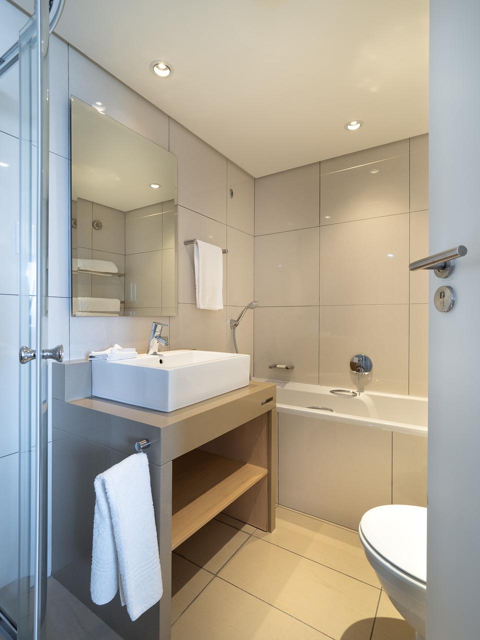 Hotel bathroom, interior, sink, bath, home - free image from