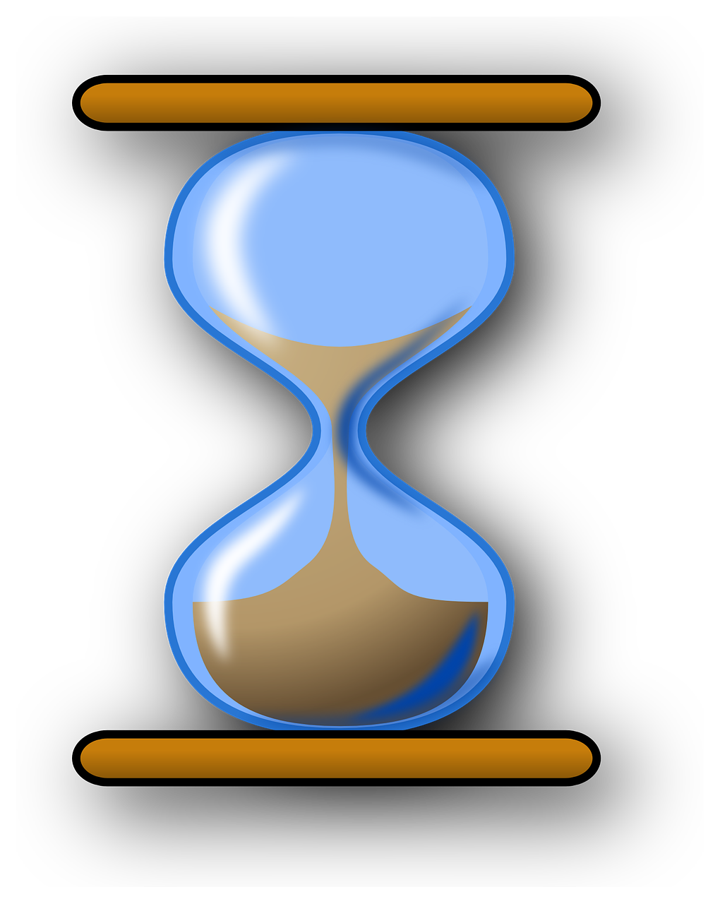 hourglass sand blue free photo