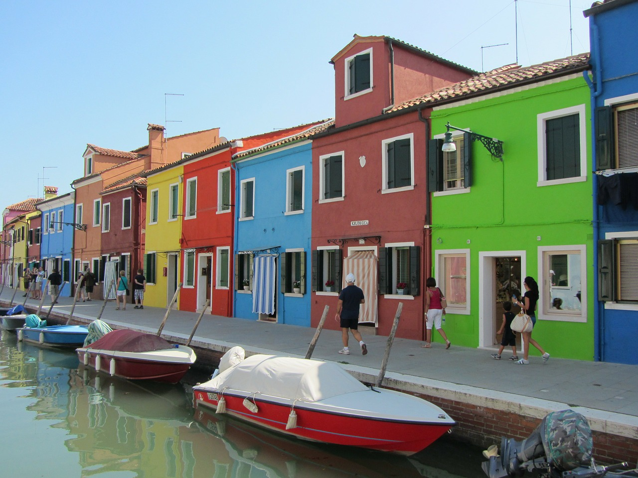 houses colored burano island free photo