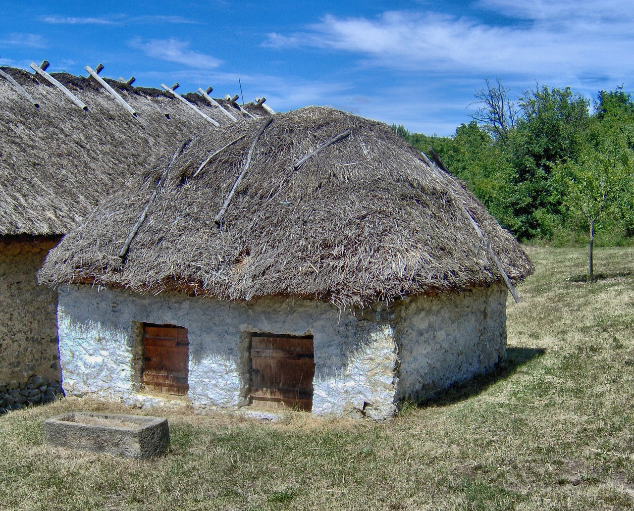 hungary buildings thatched roof free photo