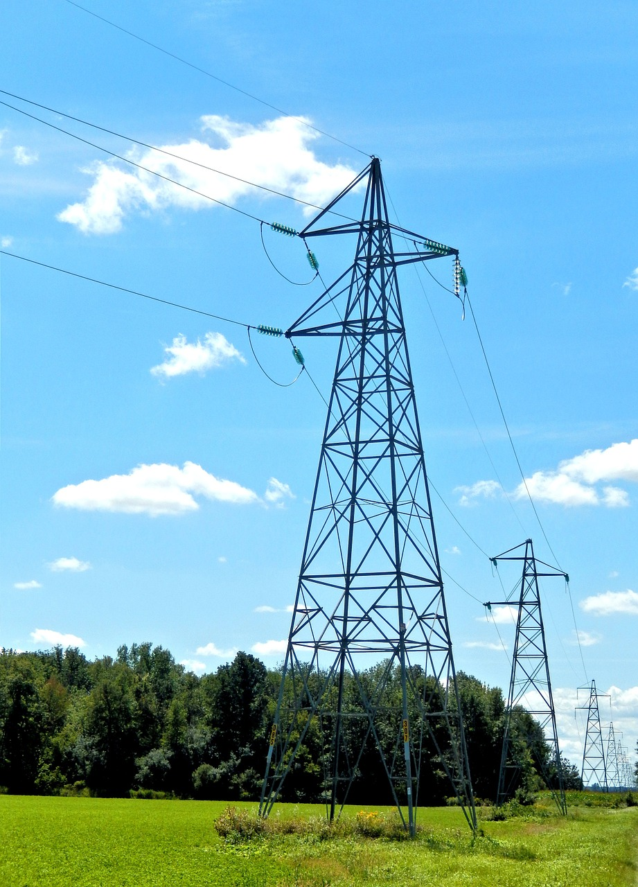 hydro electric towers high voltage ontario free photo