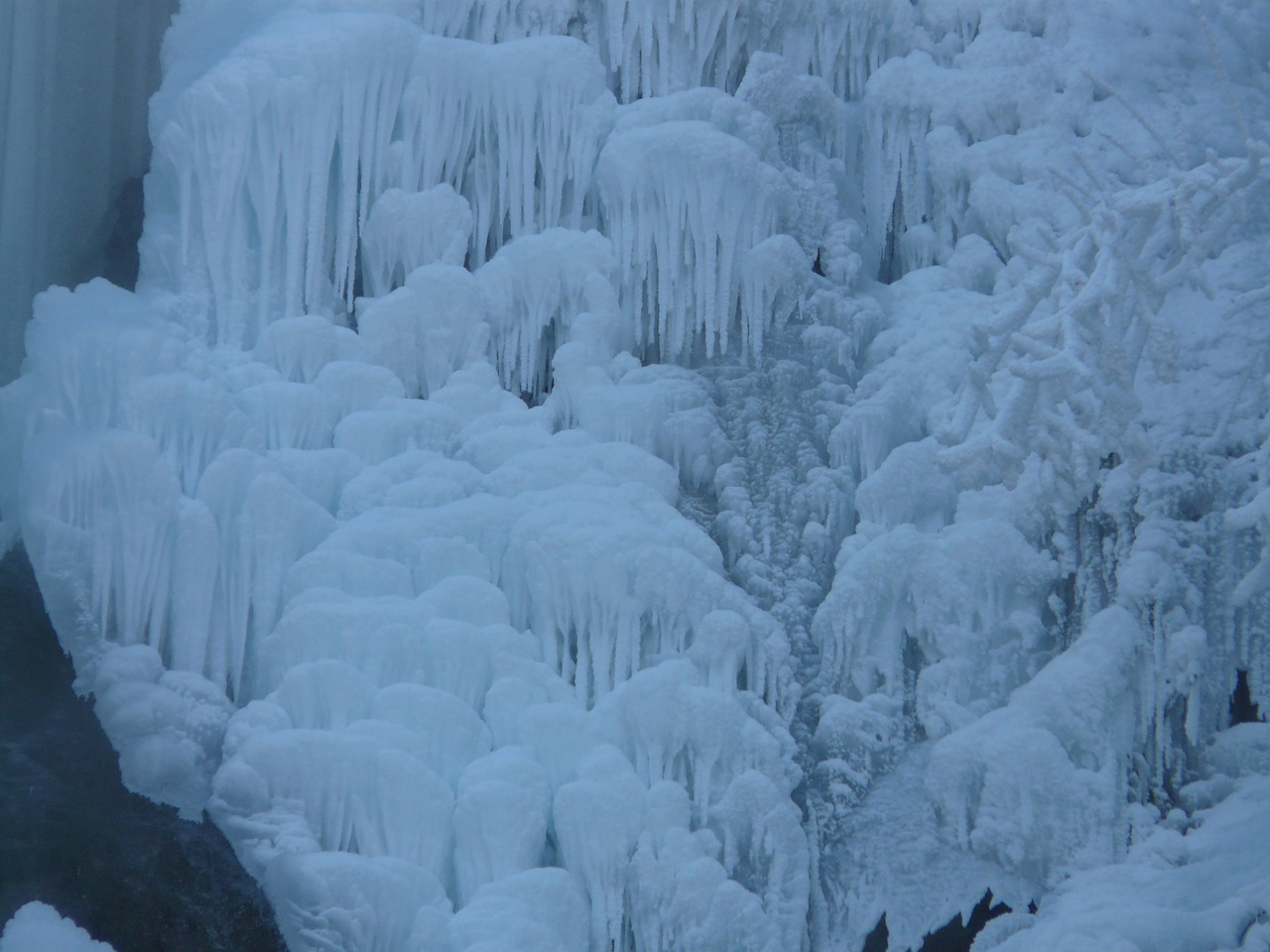 ice cascades ice formations urach waterfall free photo