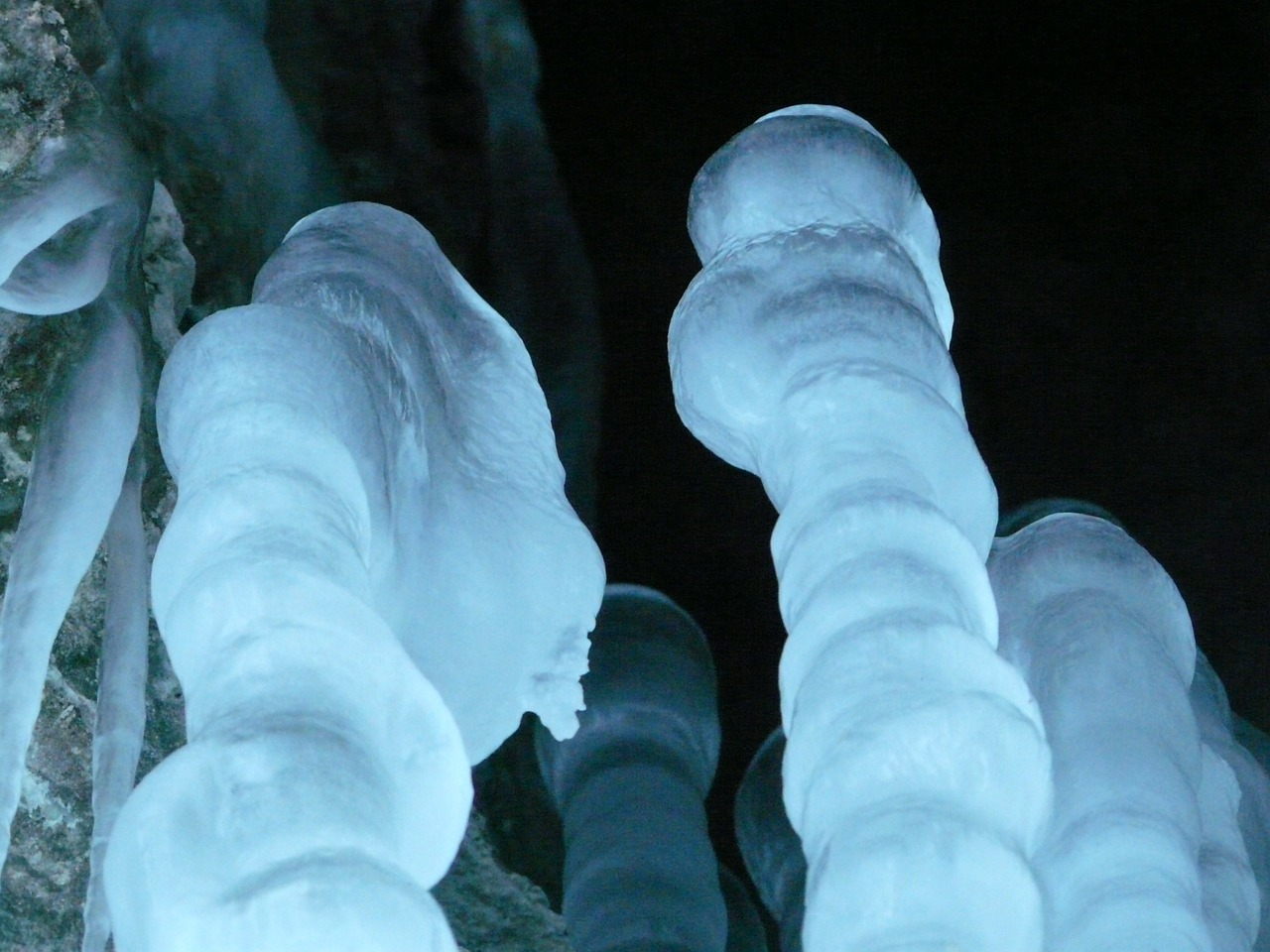 ice cave icicle stalagmites free photo
