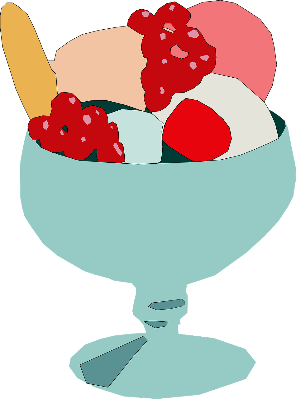 ice cream bowl sundae free photo