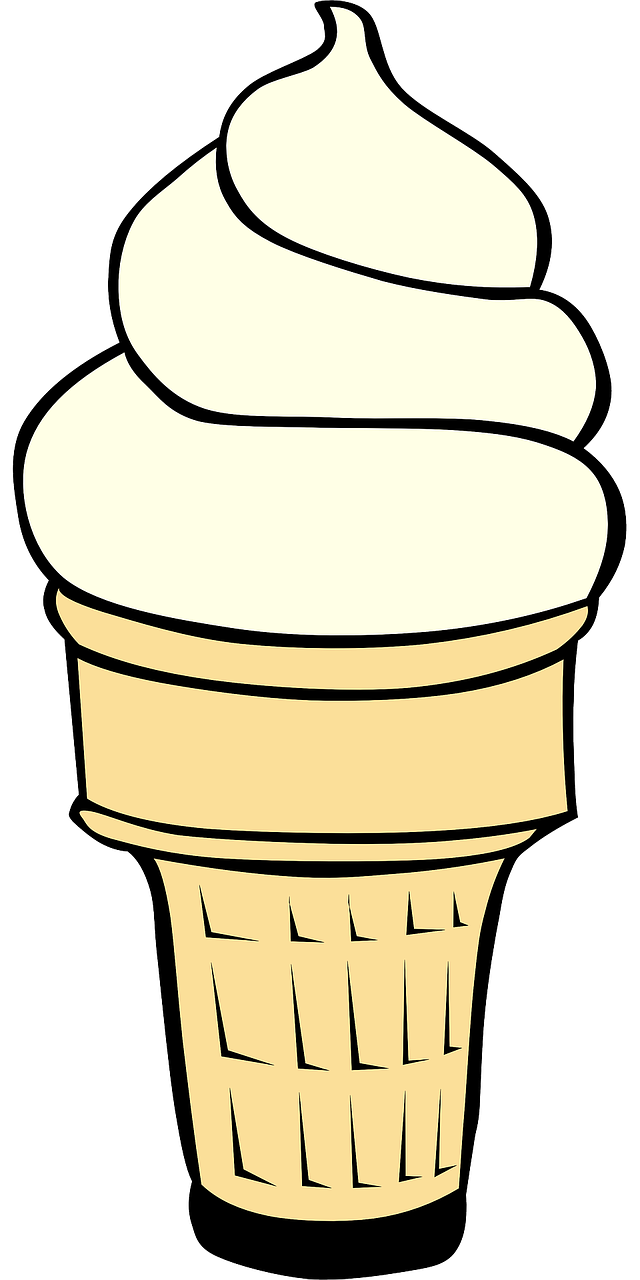 ice cream cone vanilla ice cream dessert free photo