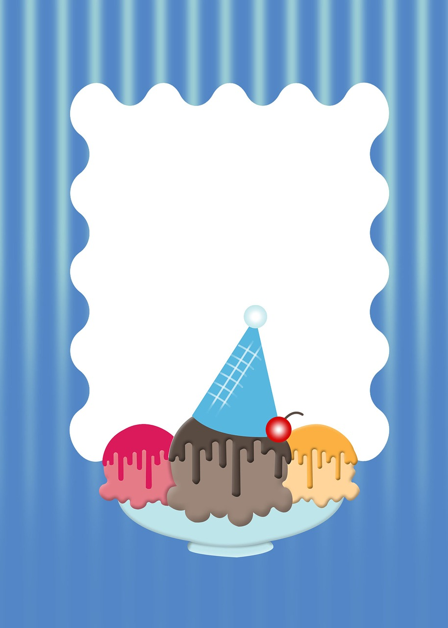 Download Free Photo Of Ice Cream Party Theme Invite Party