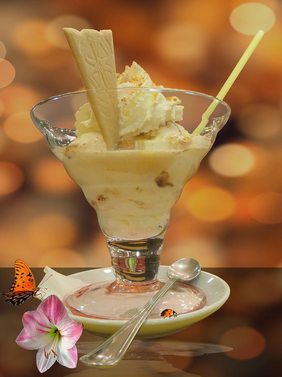 ice cream sundae ice sweet free photo