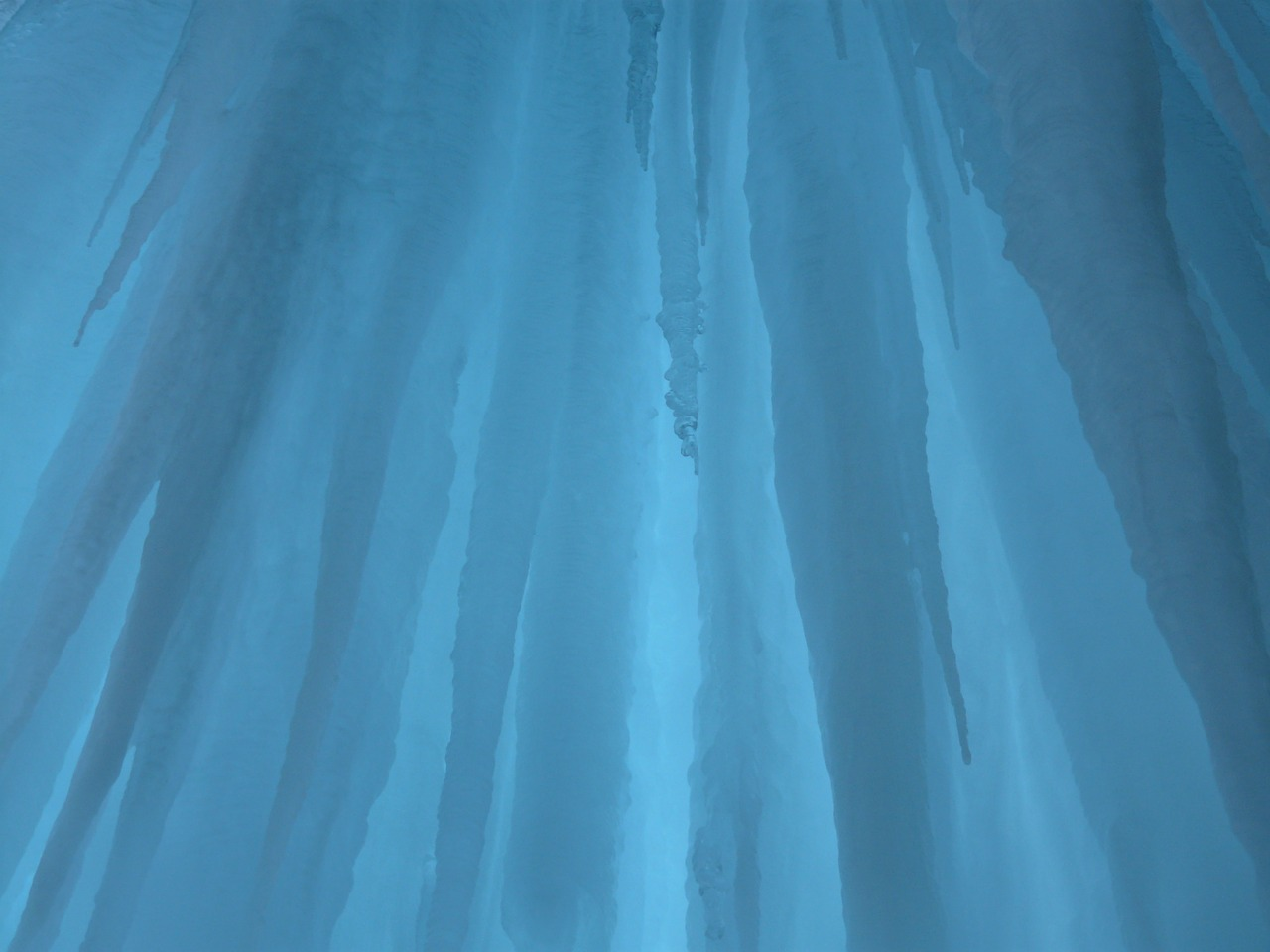 ice curtain blue shimmer free photo