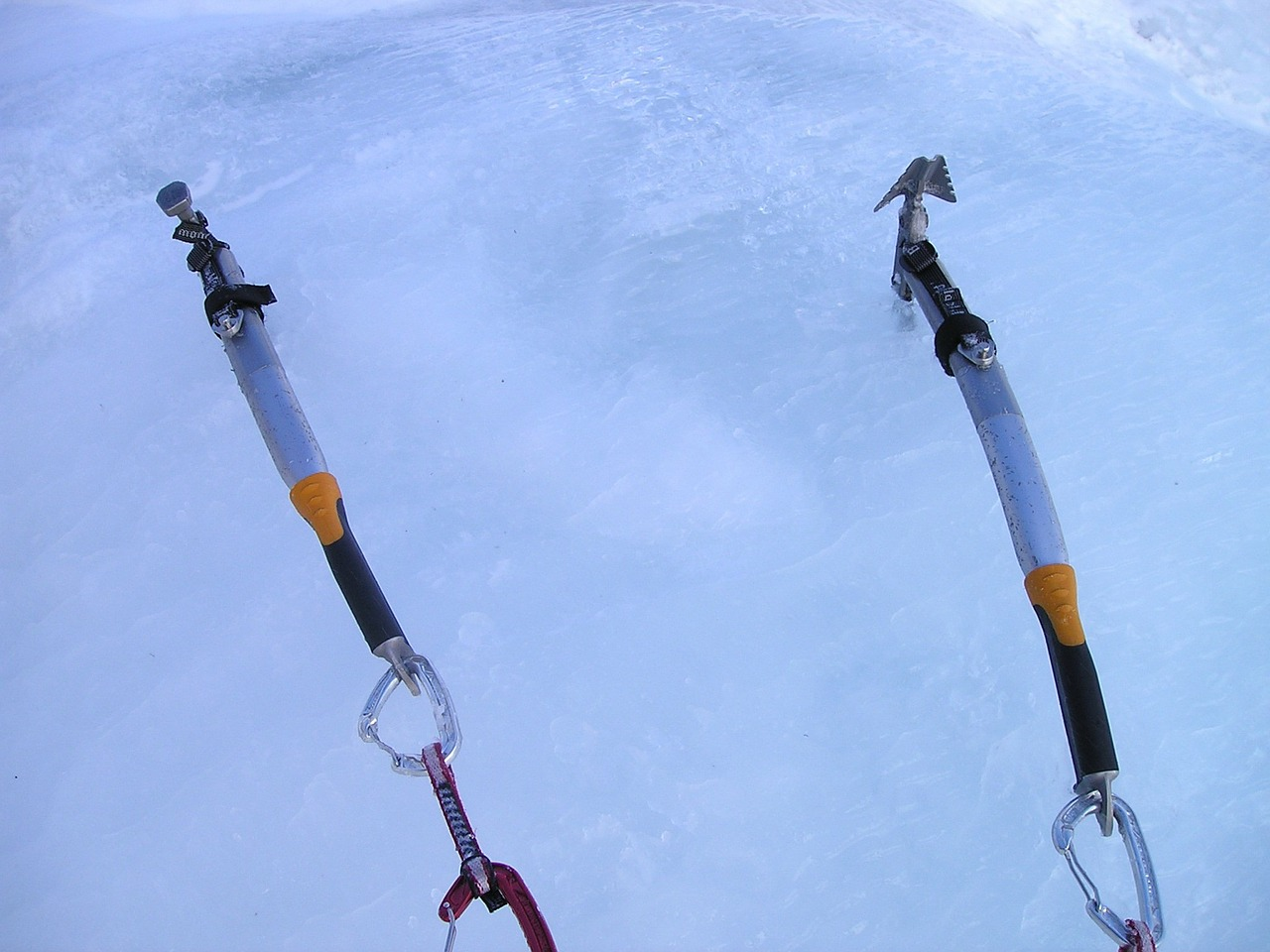 ice tools ice ax ice climbing free photo
