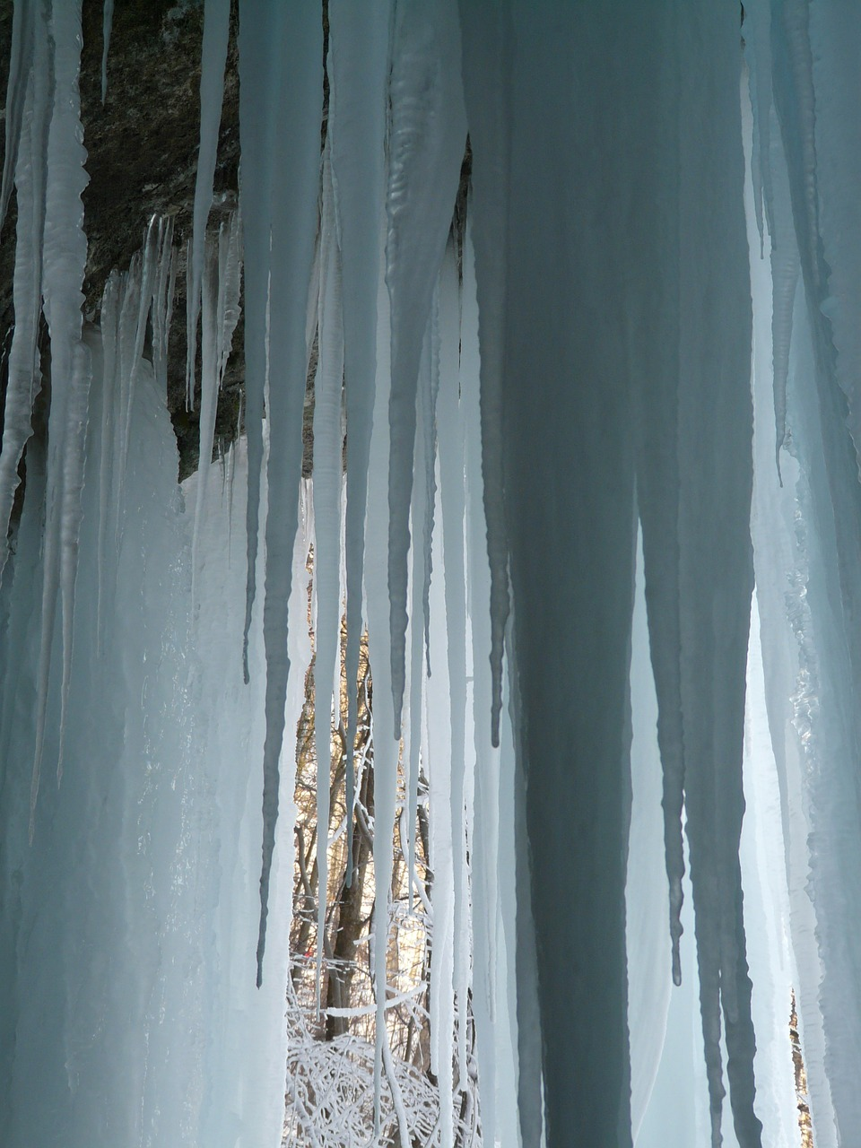 icicle ice curtain ice formations free photo