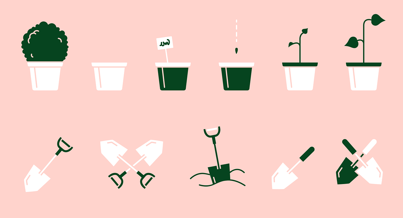 icon, icons, symbol, vector, image, www, graphics, vector graphics, garden, gardener, plant, shovel, Free vector graphics, Free illustrations,free pictures, free photos, free images, royalty free, free illustrations, public domain