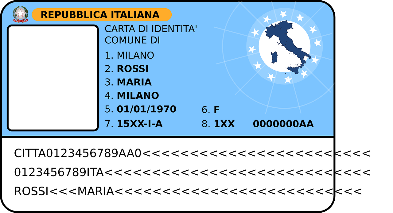 id passport italian free photo