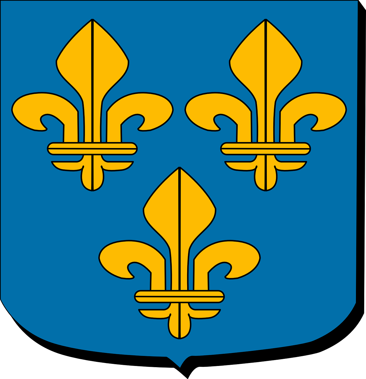 ile the france paris region coat of arms free photo
