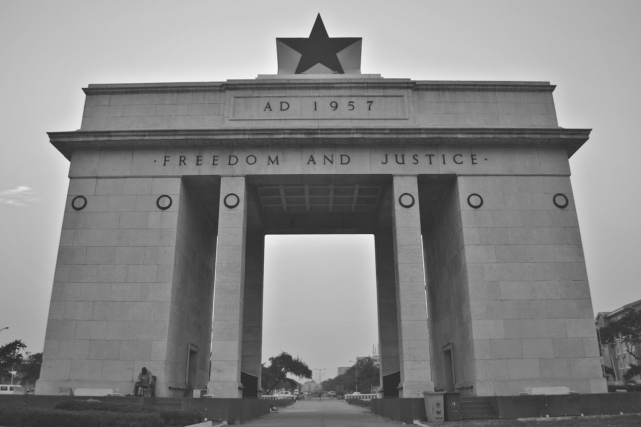 independence square accra ghana free photo