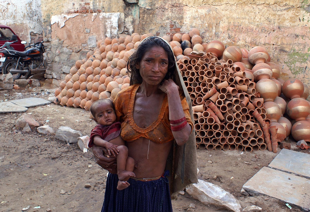 india mother child free photo
